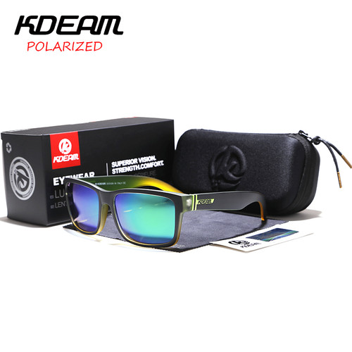 KDEAM Sport Sunglasses Polarized Men Square Sun Glasses Outdoor Women Brand design 2018 Summer UV400 With Original Case KD505