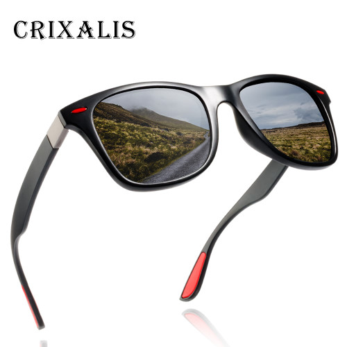 Crixalis BRAND DESIGN 2018 New Polarized Sunglasses Men Retro Square Driving Sun Glasses Male Goggles UV400 Gafas CL3375