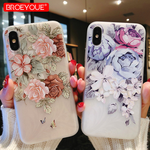 BROEYOUE For Samsung Galaxy A5 2017 Case J7 J5 2017 6 A3 A7 S7 Edge S8 S9 Plus Case For Xiaomi Redmi 4X 4A Note 4X Flowers Cover