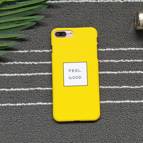 STROLLIFE Letters FEEL GOOD Phone Cases For iPhone 8 Cases Slim Cute Candy Color Hard Cover Coque For iphone X 6S 7 8Plus 5 Case
