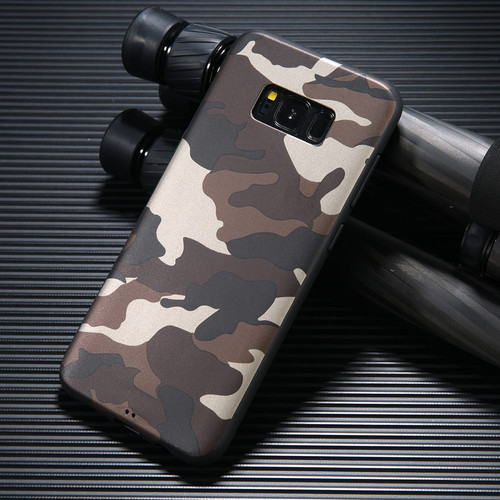 USLION Cool ArmyGreen Camouflage Print Phone Case For Samsung Galaxy S8 Plus Soft TPU Back Cases Cover For Samsung Galaxy Note 8