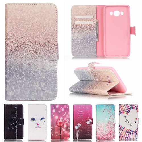 For Coque Samsung Galaxy J5 2016 Case Wallet Leather & Silicone Case Flip Cover For Fundas Samsung Galaxy J5 2016 Case Cute Cat