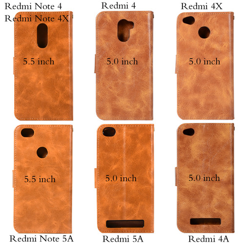 Leather Wallet Case For Xiaomi Redmi Note 4X 4 Case Flip Cover For Xiaomi Redmi Note 5A Phone Case Xiaomi Redmi 5A 4A 4X 4 Coque
