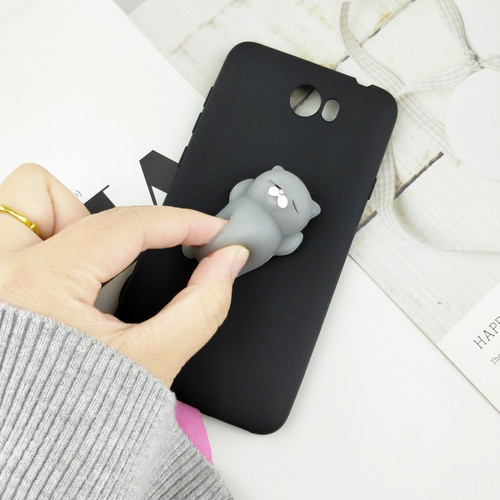 """Cute Toys Squishy Case For Huawei Y5 II Funny Cat Cases For Huawei Honor 5A LYO-L21 Y6 Elite /Y6II Compact 5.0"""" Phone Bags Cover"""