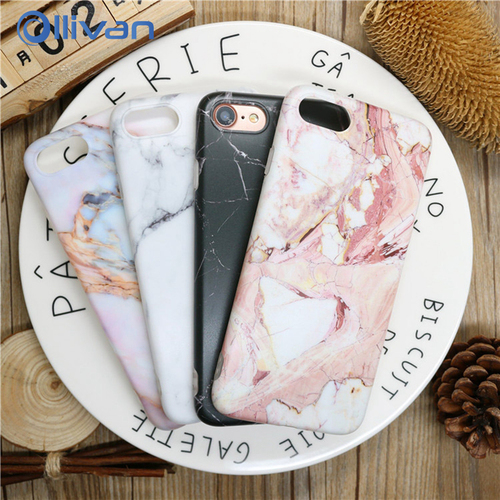 Marble Case For Iphone 7 Case Cover Silicone TPU Matte Marble Capinha Cover Cases For Iphone 8 7 Plus X 6 S Plus Luxury Case