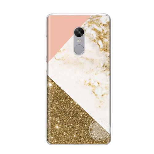 gold marble collage print hard plastic Cover phone Case for Xiaomi redmi 5 4 1 1s 2 3 3s  pro note 5 4 4X 4A 5A plus prime