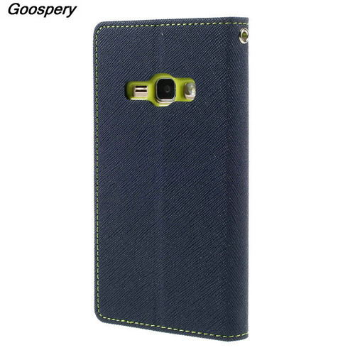 Mercury Goospery Double Color Leather Flip Case Cover For Samsung Galaxy S4 S5 S6 S8 A3 A5 A7 J1 J3 J5 J7 2016 2017 Prime Cases