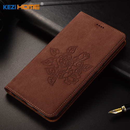 "for ZTE Blade A6 Lite case KEZiHOME Matte Genuine Leather Flower Printing Flip Stand Leather Cover For ZTE A6 Lite 5.2"" cases"