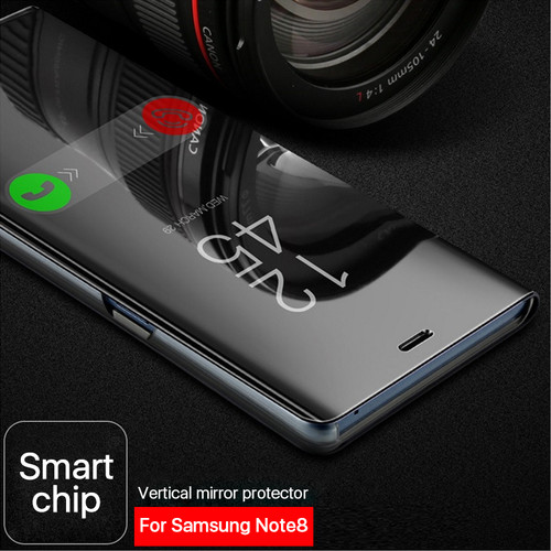 Smart Mirror View Phone Case For Samsung Galaxy S9 S9 Plus Note 8 S8 S7 A6 J6 2018 Full Cover Shockproof Clear Flip Leather Case