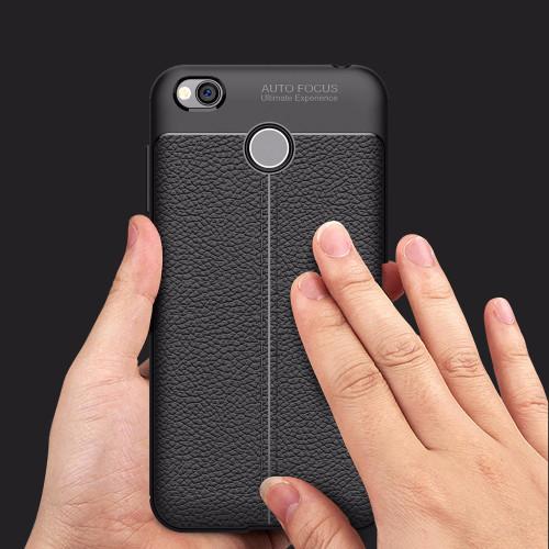 Shockproof Armor Carbon Case for Xiaomi Redmi 4X Cover Soft TPU Silicone Coque for Xiaomi Redmi 4X Case Leather Luxury Fundas