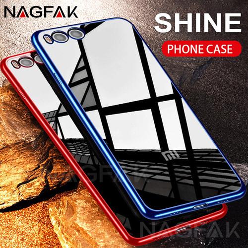 NAGFAK Luxury UltraThin Phone Case For Xiaomi Mi 6 5S 5X A1 Note3 Plating Soft TPU Back Cover Case For XiaoMi Mi6 5S Note3 Cases
