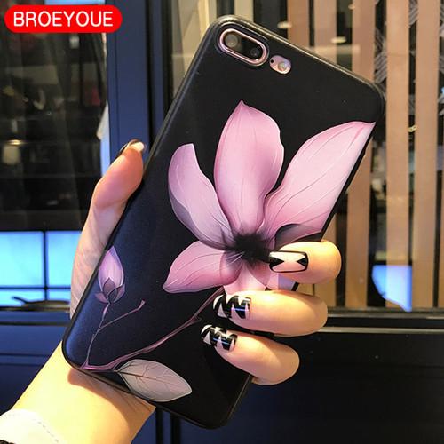 BROEYOUE Case For Xiaomi Redmi 4A 4X 5A 5 Plus Note 4 4X 5A Mi A1 5X Relief Silicone Case For iPhone 5 5S SE 6 6S 7 8 Plus X