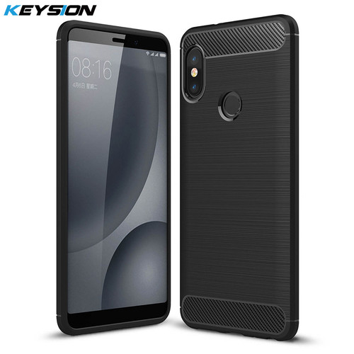 KEYSION Case For Xiaomi Redmi Note 5 Pro 4 4X 3 Brushed Armor Shockproof Soft TPU Cover for Xiaomi Mi 8 6 5 Mix 2 2s Mi A1 A2 6X