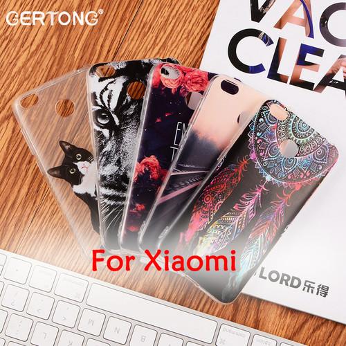 GerTong Soft TPU Painted Phone Cases for Xiaomi Redmi 4X Note 4 4A 3S Back Cover Shell for Xiaomi Mi6 Mi5S Mi Max Mix Mi5X Mi A1