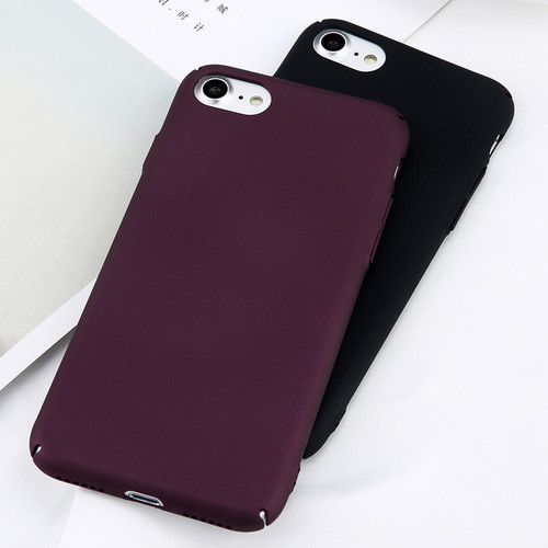 Lovebay Phone Case For iPhone 6 6s 7 8 Plus Simple Plain Wine Red Frosted Matte PC Back Cover Cases For iPhone X 8 7 6 5 5s SE