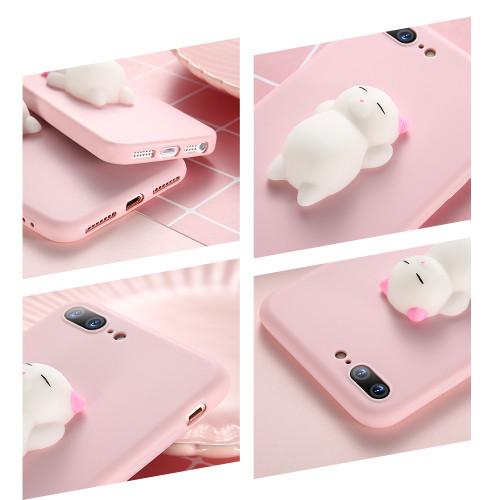 KISSCASE Cat Case For iPhone 7 6 6S Plus 5 5S SE Cases Lovely Cartoon Soft Cat Cases For iPhone 8 7 Plus 6 6s Knead Cover Coque