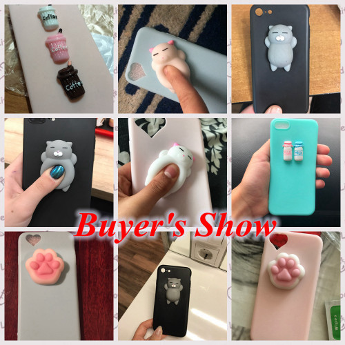 KISSCASE Cat Case For iPhone 7 6 6S Plus 5 5S SE Cases Lovely Cartoon Soft Cat Cases For iPhone 8 7 Plus 6 6s Knead Cover Coque