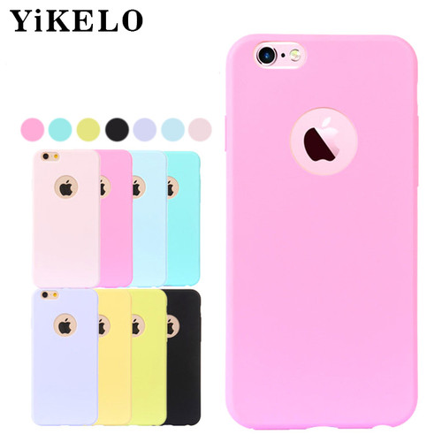 YiKELO Cute Candy Colors Soft TPU Silicon phone cases for iPhone 5 5S SE 6 6S 7 8 Plus X Fashion Back Coque on Case for iPhoneX