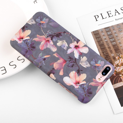 Ranipobo For iPhone 8 7 6 6s Plus 5s SE Phone Case Beautiful Leaves Flower Leaf Painted Hard PC Phone Case For iPhone 8Plus Case