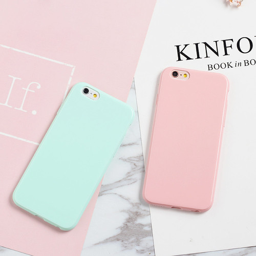 Smooth Candy Soft TPU Case For iPhone X Case Silicon For  iPhone 4 4S 5 5S 5C 6 6S 7 8 Plus Back Phone Cover Cases Capa Fundas