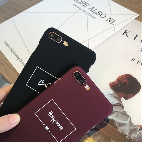 Lovebay Fashion Red Wine Letter Phone Case For iPhone X 8 7 6 6s Plus Cute Funny Cartoon Letter Hard PC Cases For iPhone 8 Plus