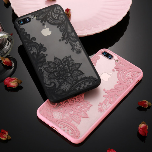 KISSCASE Phone Case For iPhone 6 6s Plus 7 7 Plus 5 5s SE Case Luxury Lace Flower TPU Cover for iPhone 8 8 Plus 5 5S SE Fundas