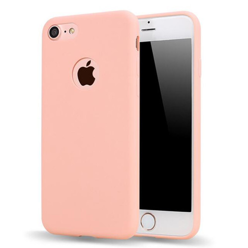 Matte Candy Gel For iPhone 7 Case Ultra Slim Soft Silicone Cover For iPhone 8 Cute Pink Fundas TPU Phone Cases For iPhone 6s x