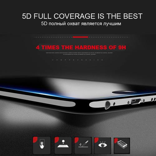 ESVNE (3nd Gen 3D 2nd Gen) 5D Tempered Glass for iphone 6 glass 6s Plus Curved Edge Full Cover iPhone 6 Screen Protector Film