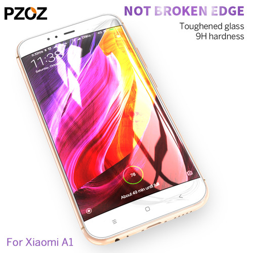 Pzoz xiaomi mi a1 glass tempered redmi note 5 protective full cover prime screen protector xiomi glass film xaomi mi a1 9h xiao