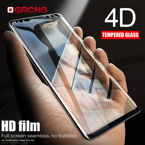 4D Curved Tempered Glass Full Cover For Samsung Galaxy S8 S9 Plus S7 Edge Screen Protector Film For Samsung Galaxy Note 8 glass