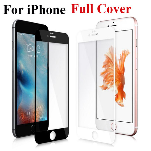 Full Cover Tempered Glass for iPhone X 10 8 7 Plus for iPhone 6 6S Plus 5 5C 5S SE Screen Protector Toughened Glass Film