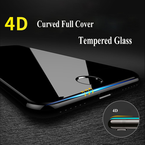 4D 9H Curved Edge Full Cover Tempered Glass For iPhone 7 6 S 6S Plus Premium Screen Protector Toughened Protective Cover Over 3D