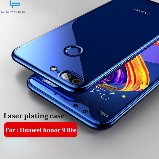 """LEPHEE for Huawei honor 9 lite Case for honor 9 lite 2017 Cover Soft TPU Laser Plating Crystal Phone Cases honor 9 lite 5.65"""""""