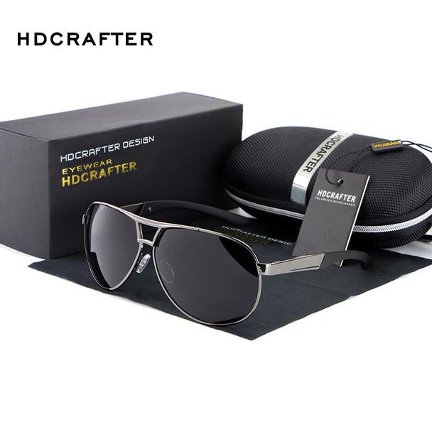 HDCRAFTER Fashion Men's UV400 Sunglasses 2016 New Mirror Eyewear Sun Glasses For Men With Case Box oculos de sol feminino ABS-3
