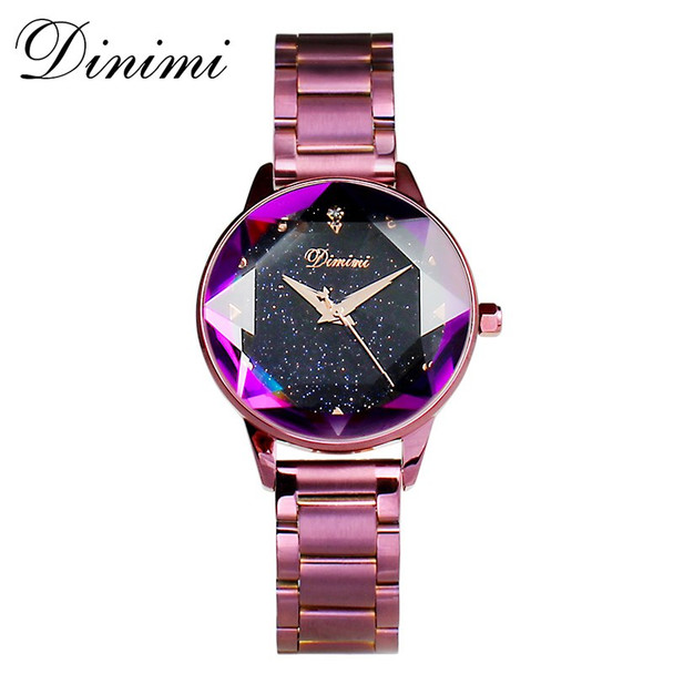 Dimini Fashion Luxury Women Watches Lady Watch Gold Quartz Wrist Watch Stainless Steel Ladies Watches Gifts Present Dropshippin