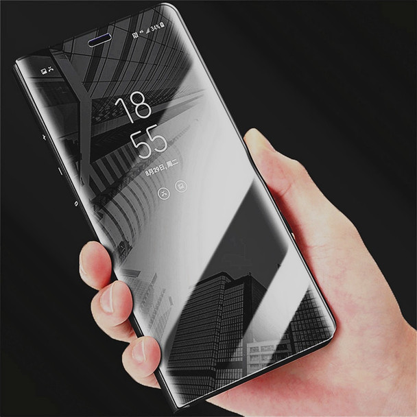 SHUOHU Luxury Flip Protection Full Screen Window Cases for IPhone 678 Plus Clear Mirror Cover for Samsung  S6 S7 S8 J3 J5 J7