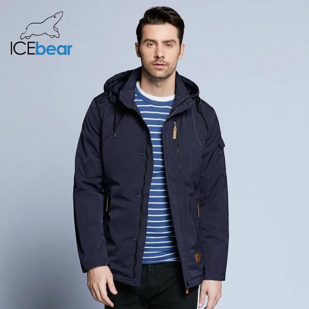 Icebear 2018 Pocket Zipper Design Men Jacket Spring Autumn New