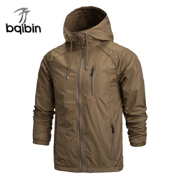 2018 Spring New Fashion Jacket Men Windbreaker Waterproof Jackets Mens Jackets Coats Jacket Casual Coat Plus Size 4XL