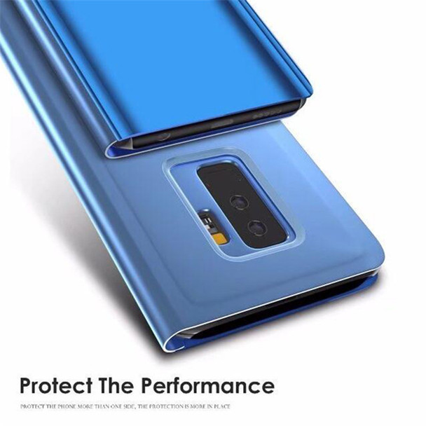 Clear View Window Smart Cover For Samsung S8 S9 Plus S7 Edge Note 8 9 Mirror Flip Cases For Galaxy A6 A5 A8 2018 J6 J5 J7 2017