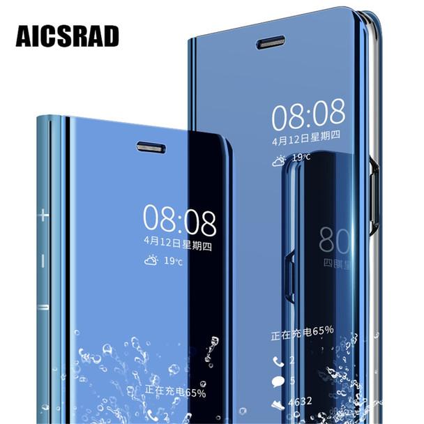 Mirror Flip Clear View Case For Xiaomi Redmi 5 Plus 4X Note 4X 3 5A Phone  Stand Smart Cover For Xiaomi Mi A1 Mix 2 mi 5C 5X 6