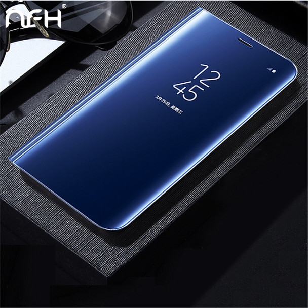 NFH For Samsung Galaxy A3 A5 A7 2017 Case Luxury Flip Stand Clear View Smart Mirror Phone Case For Samsung A320 A520 A720 Cover