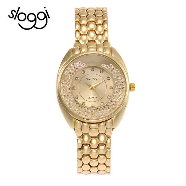 Sloggi full steel rhinestone Luxury Women Fashion Watches Hot Sale Generous Quartz Watch Ladies Female Wrist Watch  Reloj-mujer
