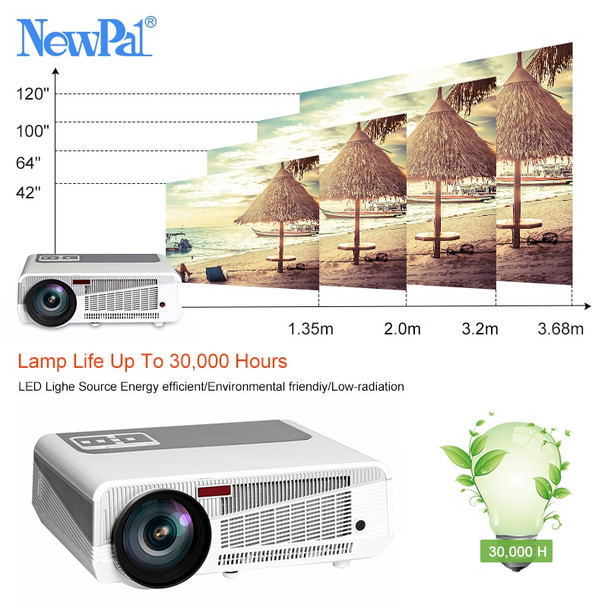 5500 Lumens LED Projector Full HD 3D Android Projectors 1080P Home Theater Bluetooth WIFI AC3 Projector LED86