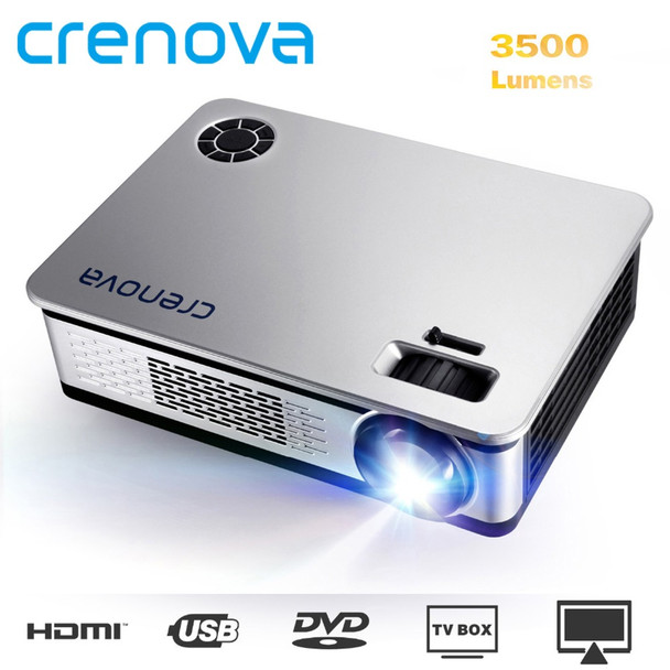 CRENOVA 3500 Lumens LED Projector Support Projector Full HD 1920*1080p With Android 6.0 7.1OS WIFI Home Theater Movie Beamer