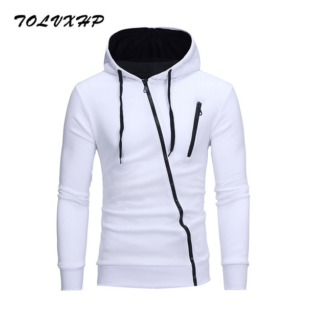 New 3D Hoodies Men 2018 Brand Male Hoodie Sweatershirt Side Oblique Pull Sweatshirt Men Moletom Masculino Hoodies Slim Tracksuit