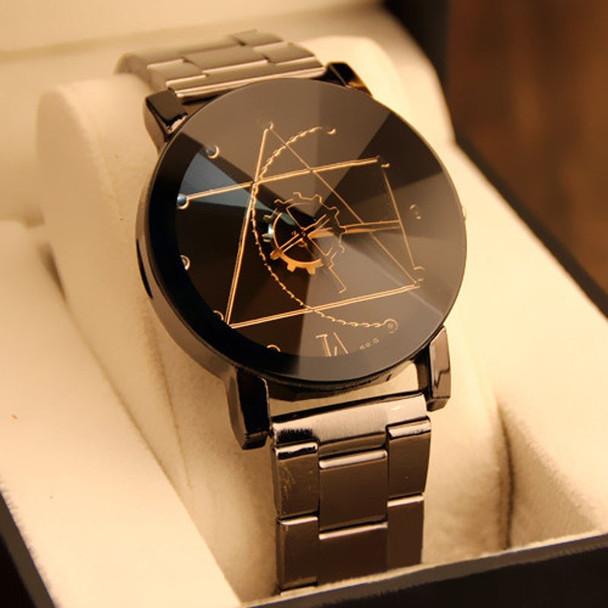 Gofuly New Luxury Watch Fashion Stainless Steel Watch for Man Quartz Analog Wrist Watch