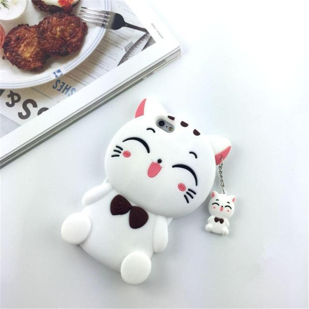 3D Luxury Cute Cartoon Lucky Cat Soft Silicone Mobile Phone Back Case Cover Skin Shell For iPhone5G 5S 6G 6S 6 PLUS 7G 7 Plus