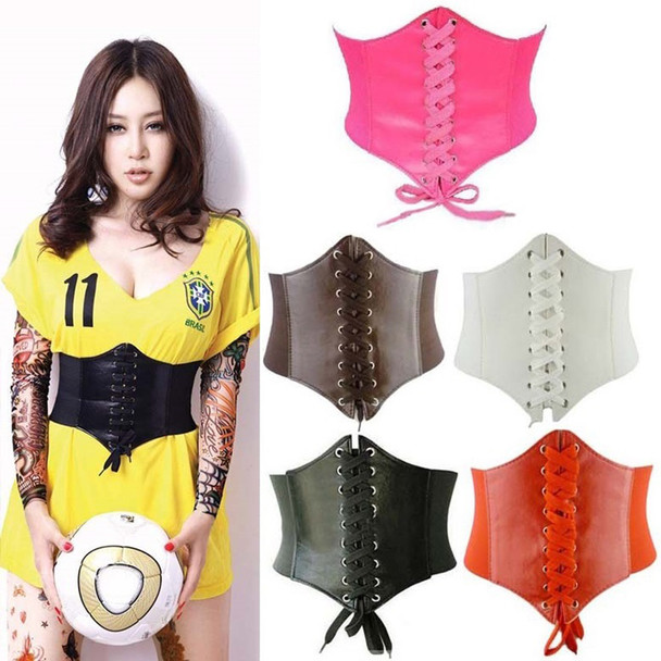 2018 Fashion Spring Autumn Extra Wide Elastic Tight Belt Summer Lacing Corset Tie High Waist Slimming Belt Body Shaping Bands