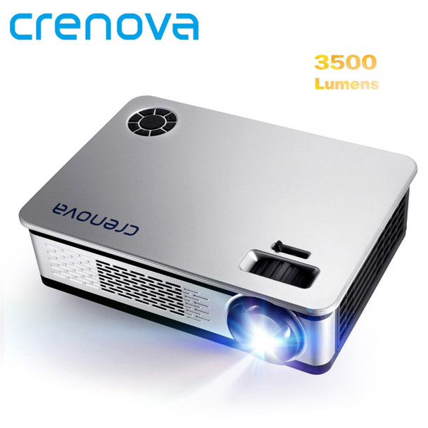 CRENOVA 3500 Lumens Video Projector For Full HD 1920*1080 Android Projector With WIFI Bluetooth Android 6.0 7.1 OS LED Beamer