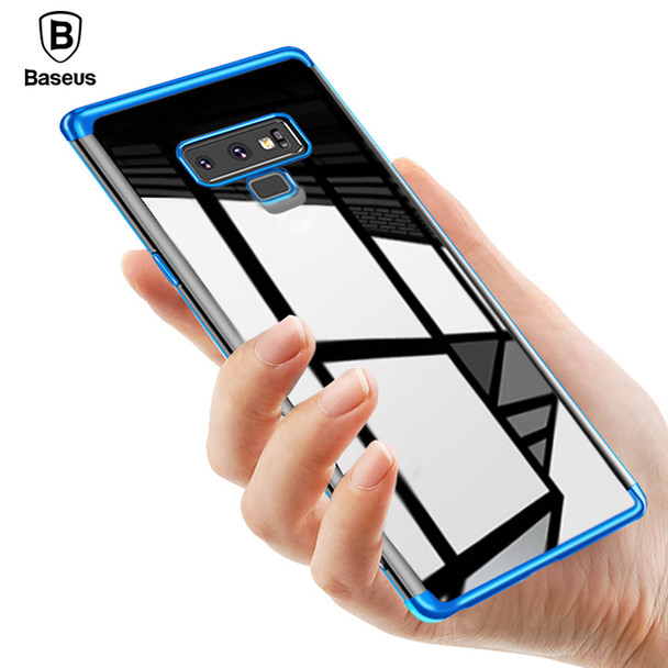 Baseus Luxury Plating Case For Samsung Galaxy Note 9 Coque Soft TPU Transparent Clear Silicone Back Cover Case For Galaxy Note9